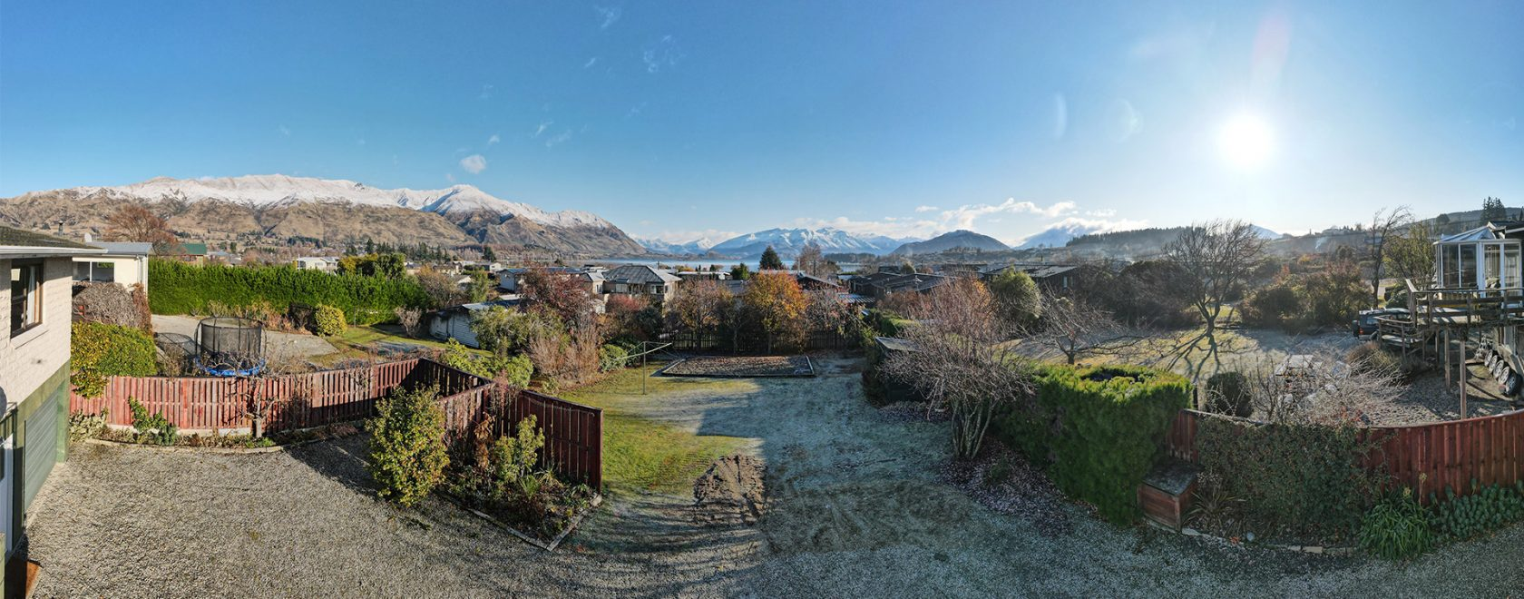 Approximate panoramic view of Wanaka from Townhouses 1 to 3.